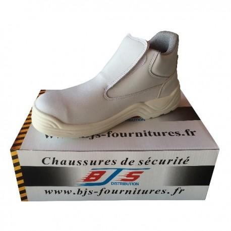Chaussures de sécurité agroalimentaires hautes sans lacets