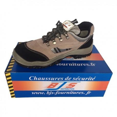 Chaussures de sécurité en cuir et velours