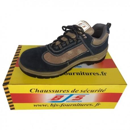 Chaussures basses de sécurité en cuir et velours BJS