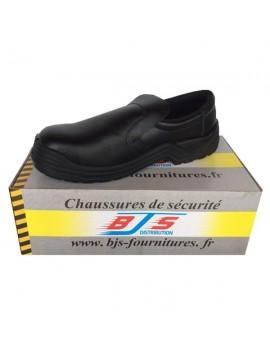 Chaussures basses de sécurité cuir sans lacets BJS