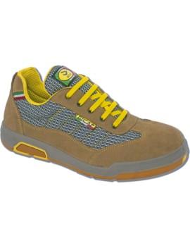 Chaussures de sécurité en cuir chamoisé marron BICAP
