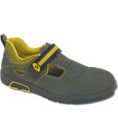 Chaussures de sécurité en cuir chamoisée grise BICAP