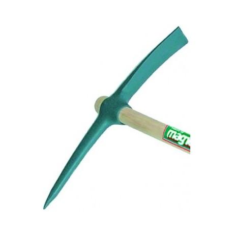 Pioche de terrassier œil rond 2,5 kg Magne sans manche