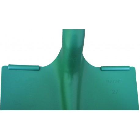 Pelle de terrassier à 2 rebords carrée Magne