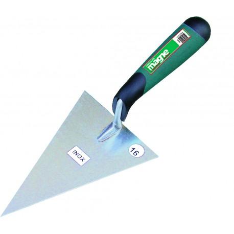Truelle italienne ergo triangulaire inox Magne
