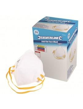 50 masques pliables anti-poussière sans valve
