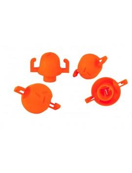 Sac de 25 embouts de sécurité et répérage orange