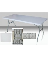 Table rectangulaire 183 x 76 cm pliante en malette