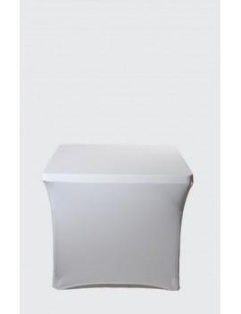 Housse Spandex pour table pliante carrée 87 x 87 cm