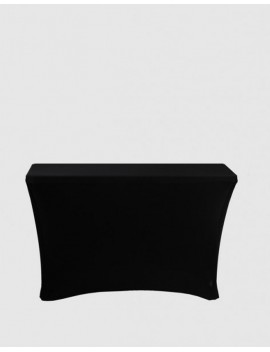 Housse Spandex pour table pliante rectangle 122 cm x 61 cm - noir