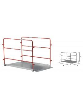 Passerelle de chantier - L 1,7 m avec garde-corps