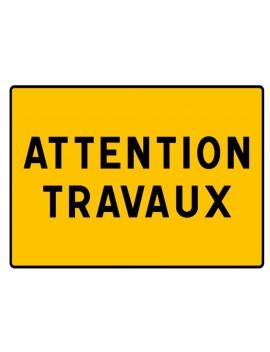 """Panneau seul KC1 22P """"Attention Travaux"""""""