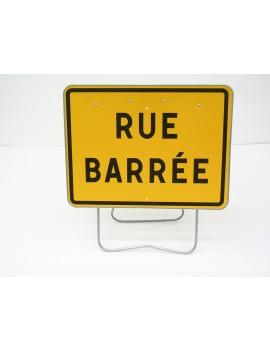 """Panneau KC1 19P """"Rue barrée"""" avec support"""