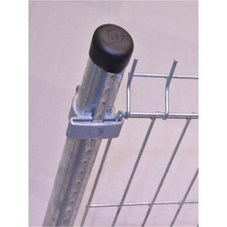 Poteau à crémaillères pour clôture 0,63 m