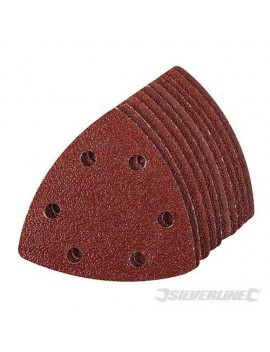 Lot de 10 feuilles 90 mm abrasives triangulaires auto-agrippantes