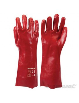 Gants longs PVC rouges