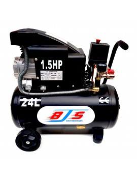 Compresseur d'air coaxial 24 L, 1,5 cv, électrique