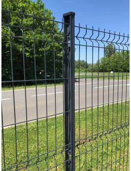 Poteau à clips pour clôture 1,23 m