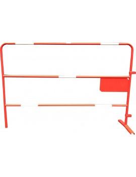 Barrière de chantier rouge Ø 25 mm petite plaque