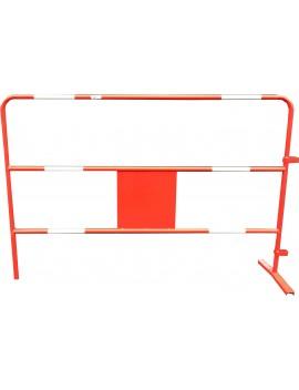 Barrière de chantier rouge Ø 25 mm grande plaque