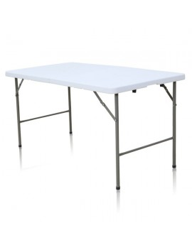 Table rectangulaire dimension 152 cm x 76 cm pliante en malette